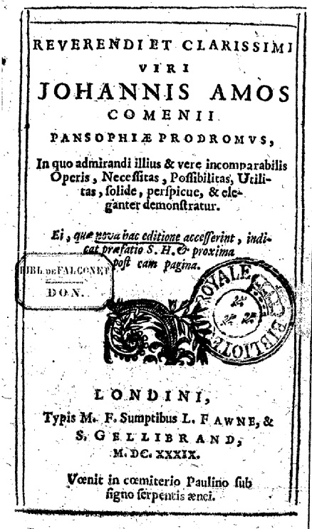 Pansophia Commenius Cover